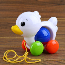 Baby Toy animal with Bell Rope dog Horse Duck kids gifts