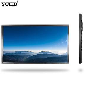 32 43 50 55 60 65 70 75 inch wall mounted 10 points IR touch screen advertising display panel