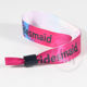 Custom lockable printed satin ribbon wristband bracelet for party ticket
