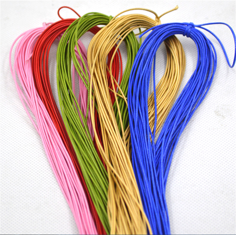 1mm Waxed Polyester Twine Cord Rope String Macrame Bracelet Thread for Jewelry Making Supplies DIY Craft