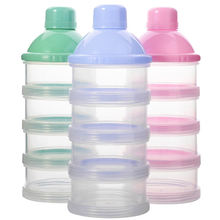 3 Colors BPA Free Travel Portable 4 Layers Infant Baby Milk Powder Box  Baby Formula Dispenser Food Storage Container