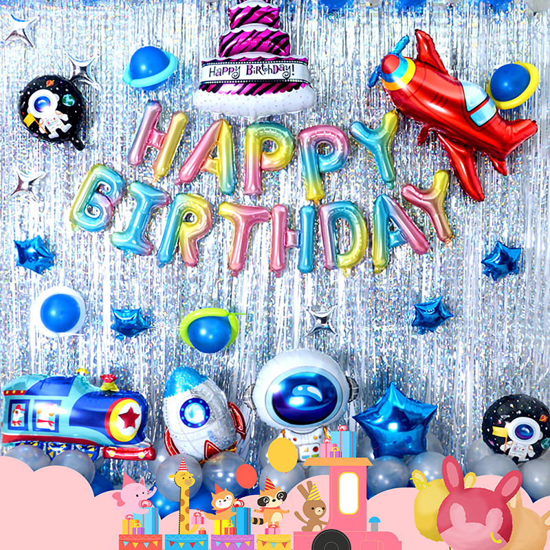 HAPPY BIRTHDAY Luftballons Set Kind <span class=keywords><strong>Thema</strong></span> Party Dekorationen Folie Ballon Cartoon Latex Luftballons Kinder Geburtstag Raum Luftballons