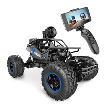 2.4Ghz 1: 16 4WD Remote Control Car with FPV HD Camera & Dual Control RC Mode Speed Vehicle for Children, Adult-Black