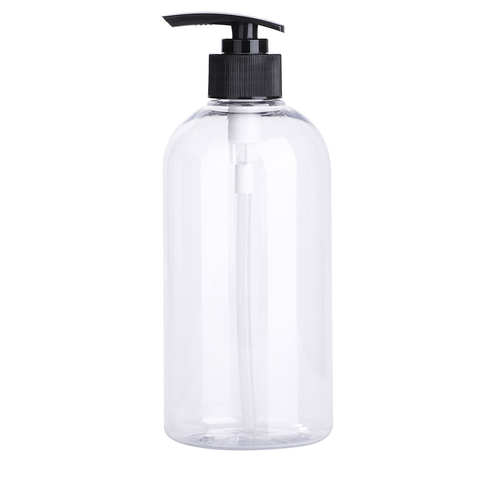 500ml Plastic Hotel Amenities PET Clear Empty Pump Bottle Hand Washing Bottle