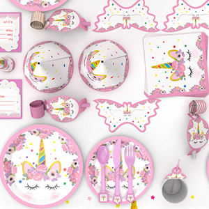 Wholesale Pink Unicorn Design Theme Party Decoration Pack Supplier for Kids