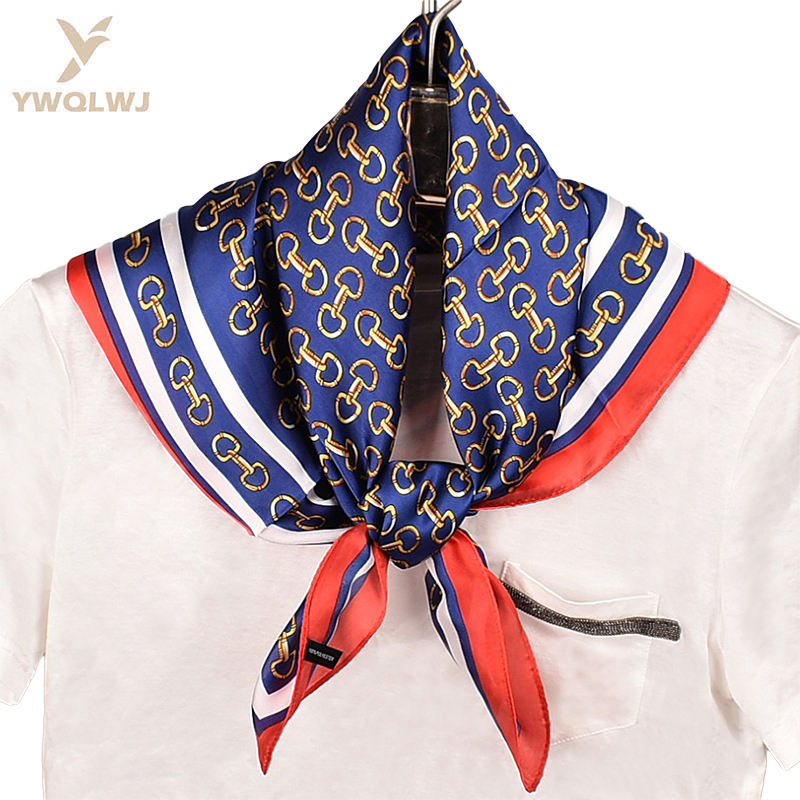 2020 New high quality Lock diagram small G Silky scarf wholesale fashion silk-like women 70 Square soft satin scarves