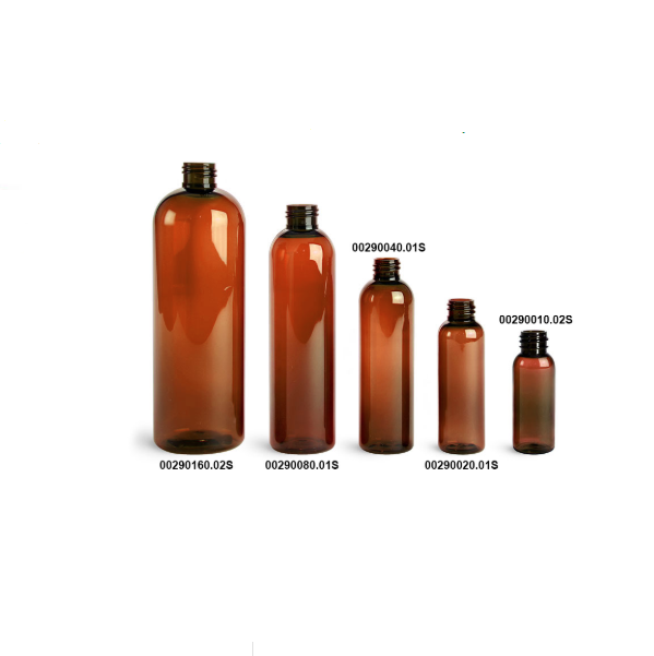 In stock 120ml plastic bottles amber pet cosmo round bottle 4oz with fine mist sprayers