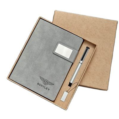 Custom A5 Pu Leather Hard Cover Notebook with Pen holder for 2020 dairy