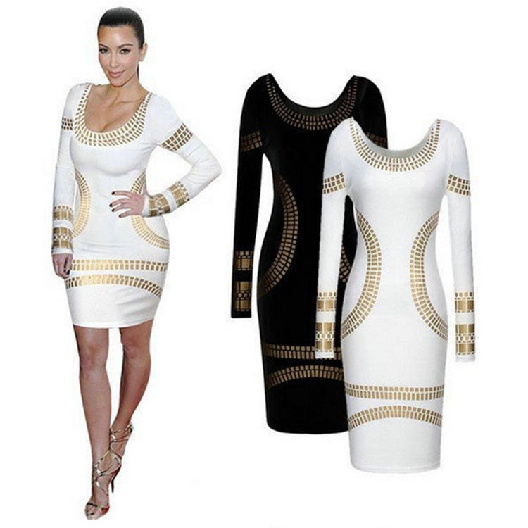 Winter New Fashion Womens Arrival Bodycon Dresses Long Sleeve Slim Sexy casual dresses fall clothing fall 2020 apparel for women