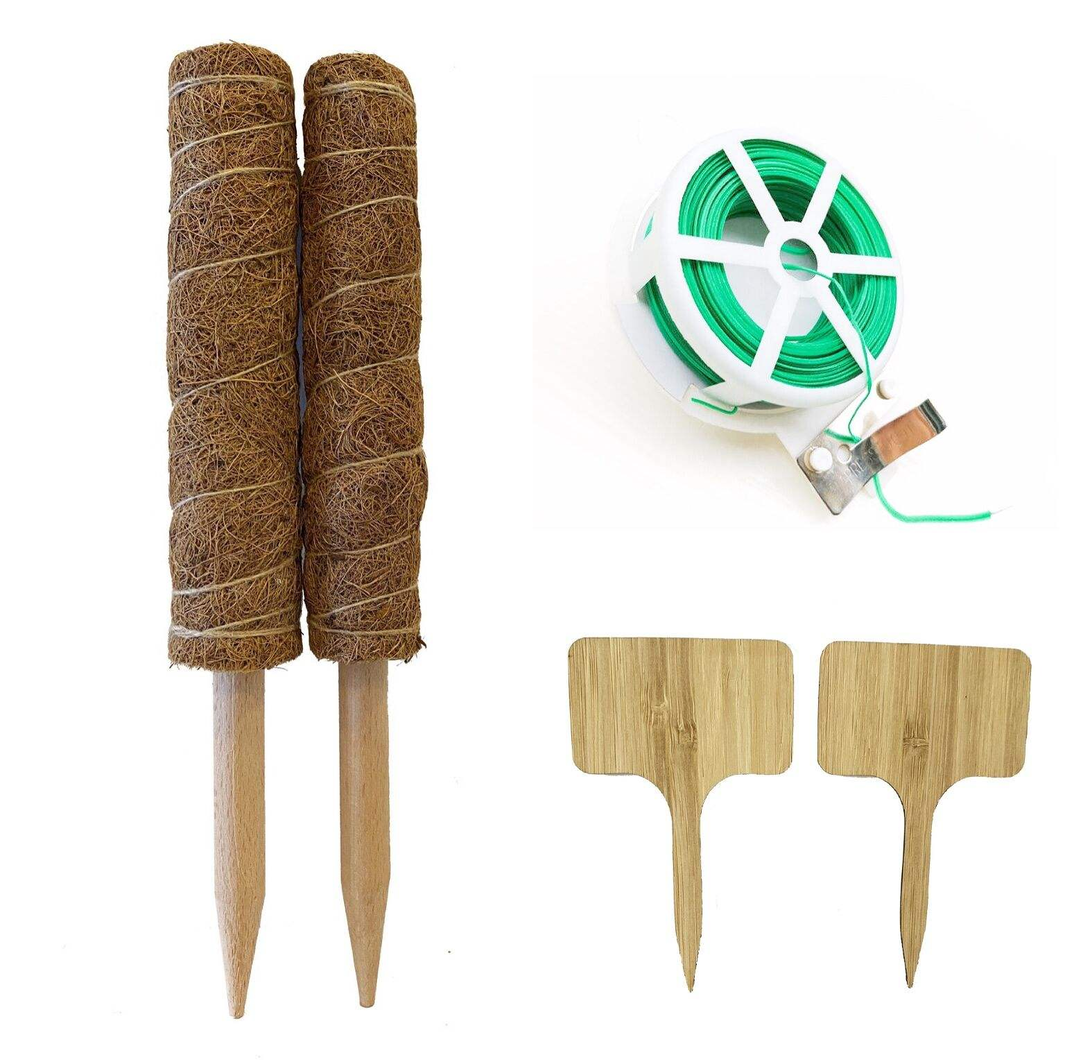 12 inches Biodegradable coco plants poles with variety moss pole accessories like totem pole support