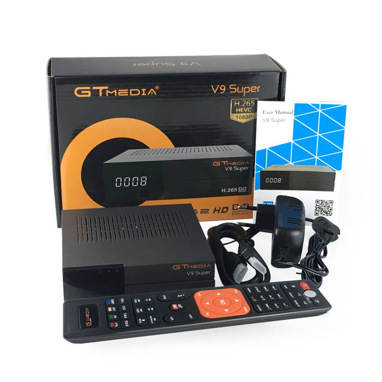 Set top box v9 super tv satellitare ricevitore H.265 1080P HD TV Satellitare Ricevitore DVB-S2 FTA Migliore Built-In Wifi decoder GTMEDIA V9