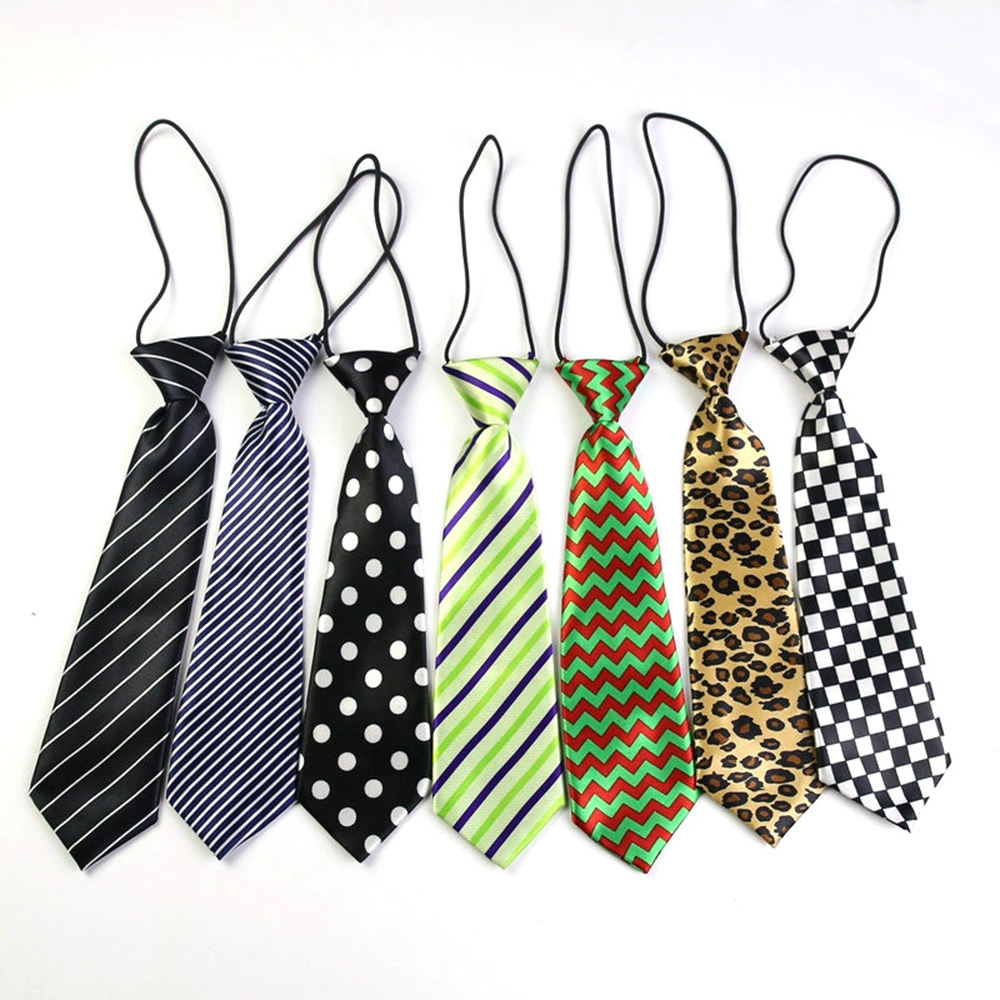 Shengzhou Wholesale Cheap Elastic School Neckties For Girls