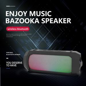 Outdoor Portabel LED Lampu Pesta Player Boombox Nirkabel Bluetooth Bazooka Karaoke Sistem Home Theater Speaker Lengkap
