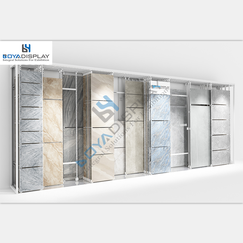 Showroom display racks für granit und marmor fliesen stand displays einstellbar typ