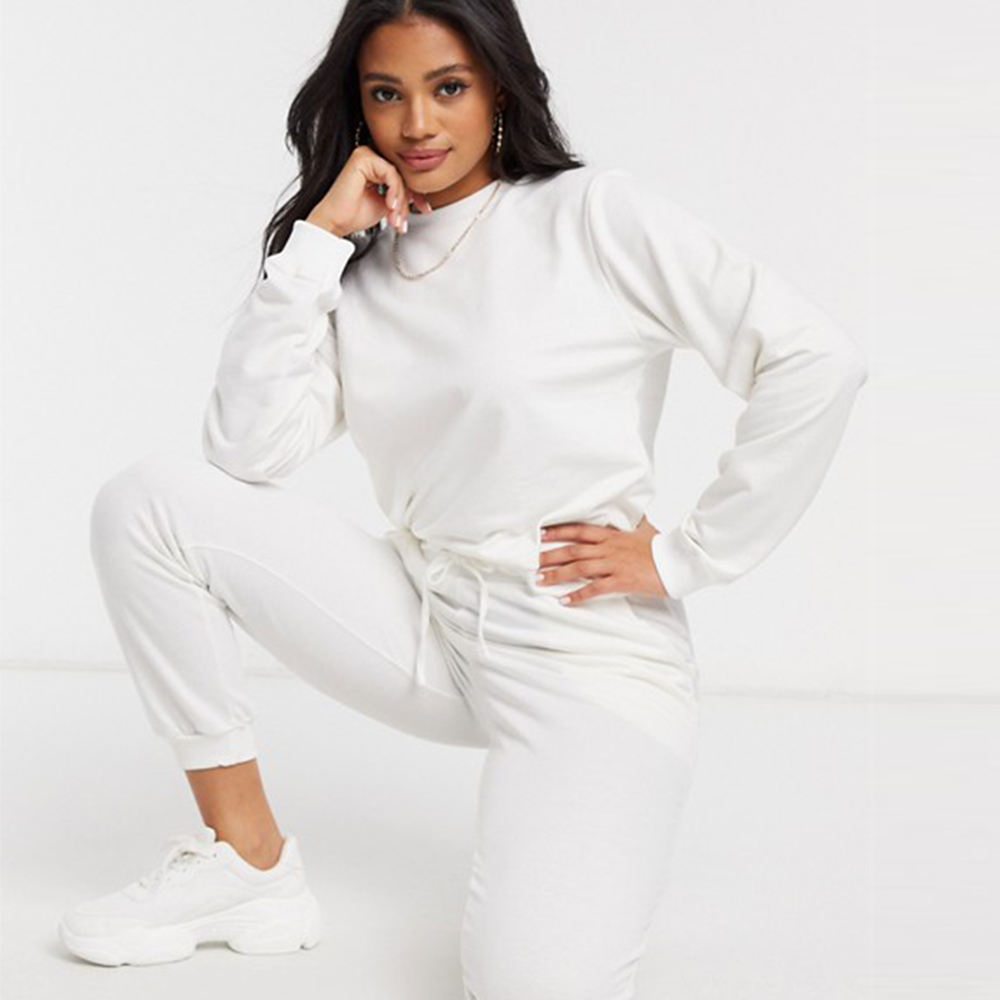 Factory Directly販売SlimフィットTracksuits Cotton生地Anti-ピリングJoggerセットLooseフィットVogue Tracksuits女性のための