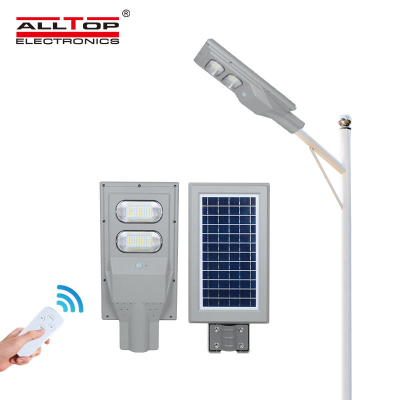 ALLTOP High quality industrial Bridgelux outdoor waterproof IP65 30w 60w 90w 120w 150w all in one solar led street light