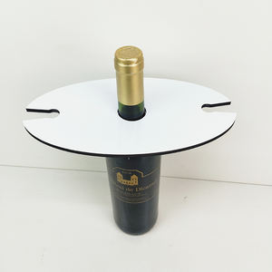 Sublimation MDF wine holder wooden blank glass holder oval wine caddy