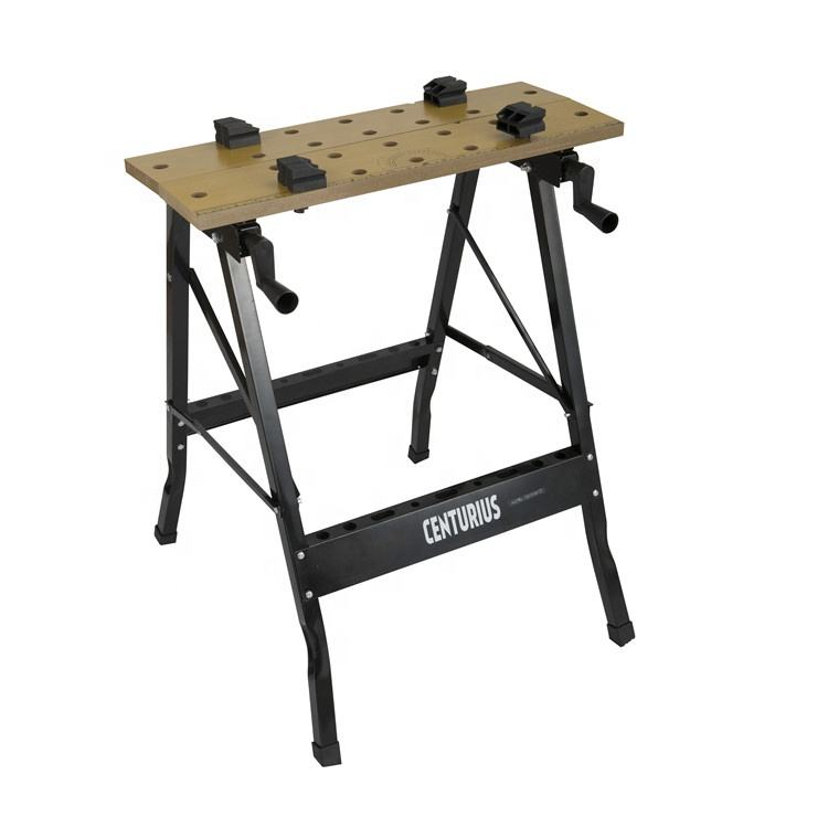 foldable mobile wooden portable work bench table