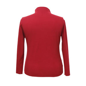 High Quality Long Sleeve Women Shirt Clothing Casual Plain Top Blouse Turtleneck Winter Cotton