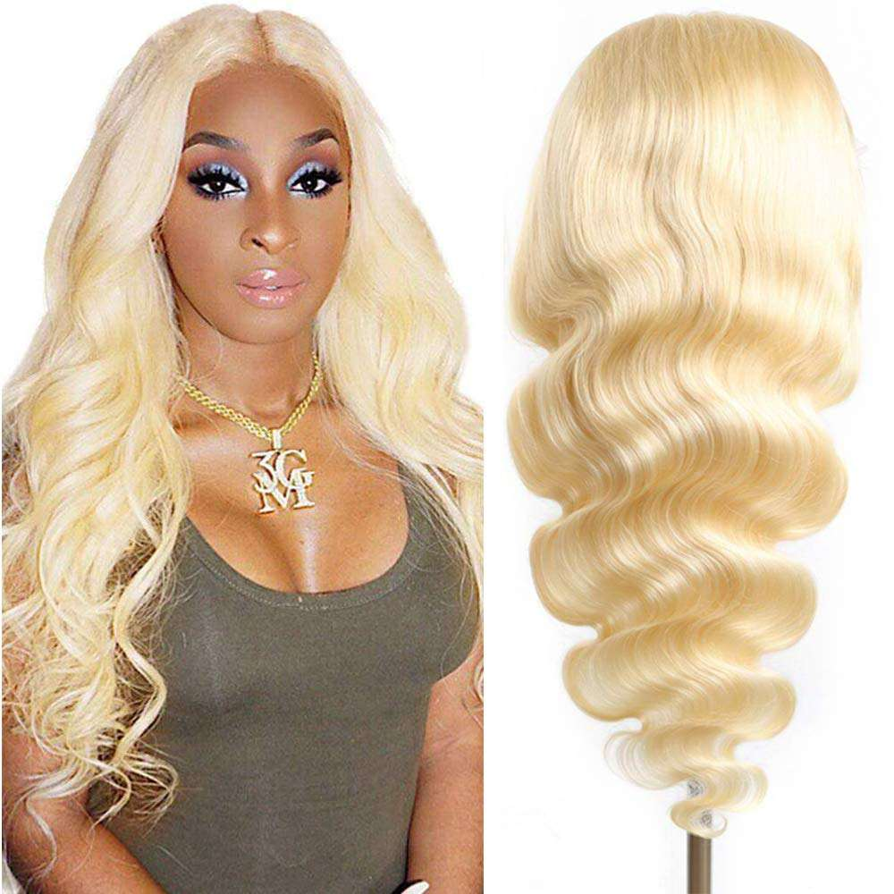 100% Mink Raw Virgin Cuticle Aligned Brazilian Blonde Lace Frontal Wig Human Hair 613 Transparent Lace Front Wigs With Baby Hair