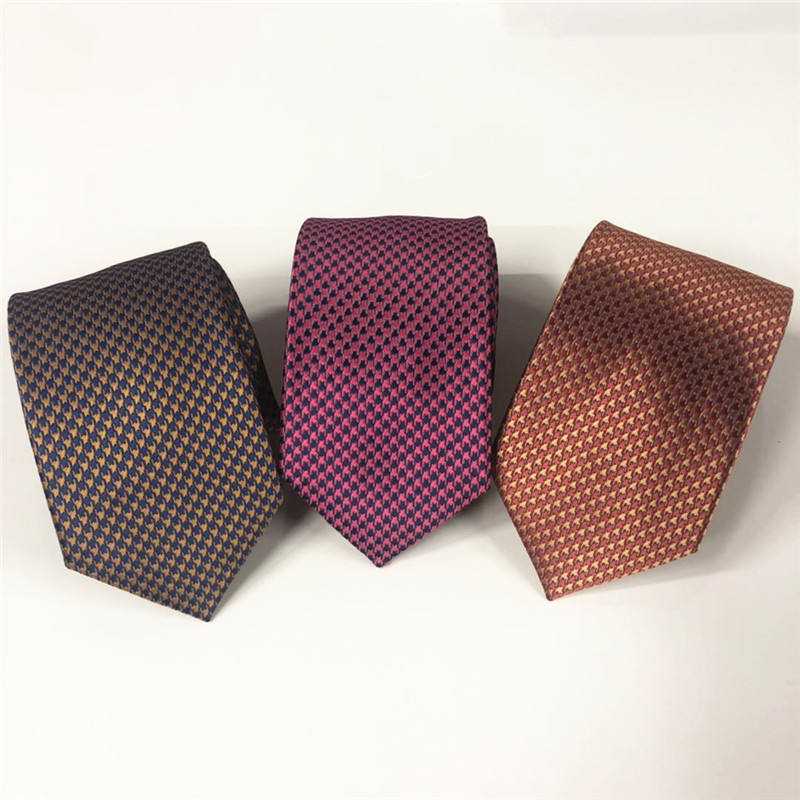New business tie polyester men's tie custom pink orange mens necktie