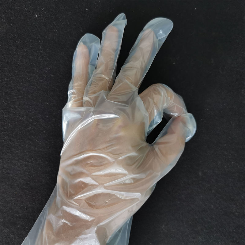 factory sale disposable diposible plastic hand gloves for kitchen / restaurant with DIN