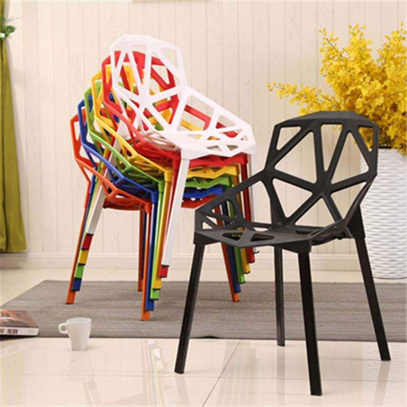 Free sample modern dining room furniture leisure PP plastic chair stacking dining chair wholesale cheap price