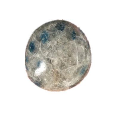 wholesale crystals healing stones gemstone Blue Dotted Polished K2 Jasper kyanite with Granite palm stone