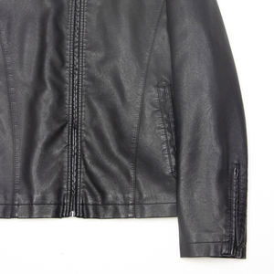 Custom wintger bomber leather jacket pu leather jacket men for motorcycle