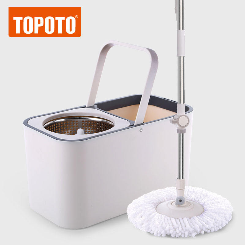 2020 TOPOTO Wholesale 360 Degree Easy Use Super Magic Floor Cleaning Microfiber Mop