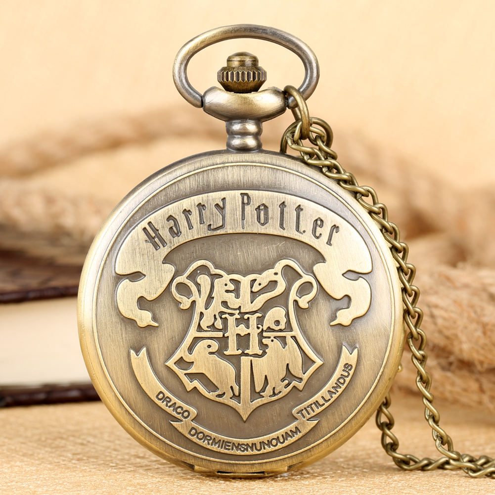 Wholesale Harry Potter Antique Pocket Watch with Deathly Hallows