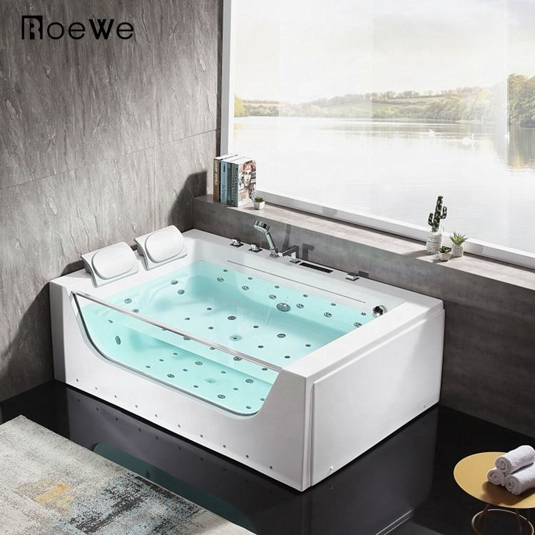 modern 2 sided skirt corner shower saudi bathroom jakuzi spa whirlpool adult acrylic hydro massage bathtub