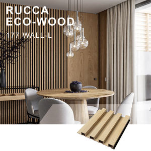 Rucca Gold Color Compact Laminate Decorative Wall Cladding 177x21.5 WPC Panels