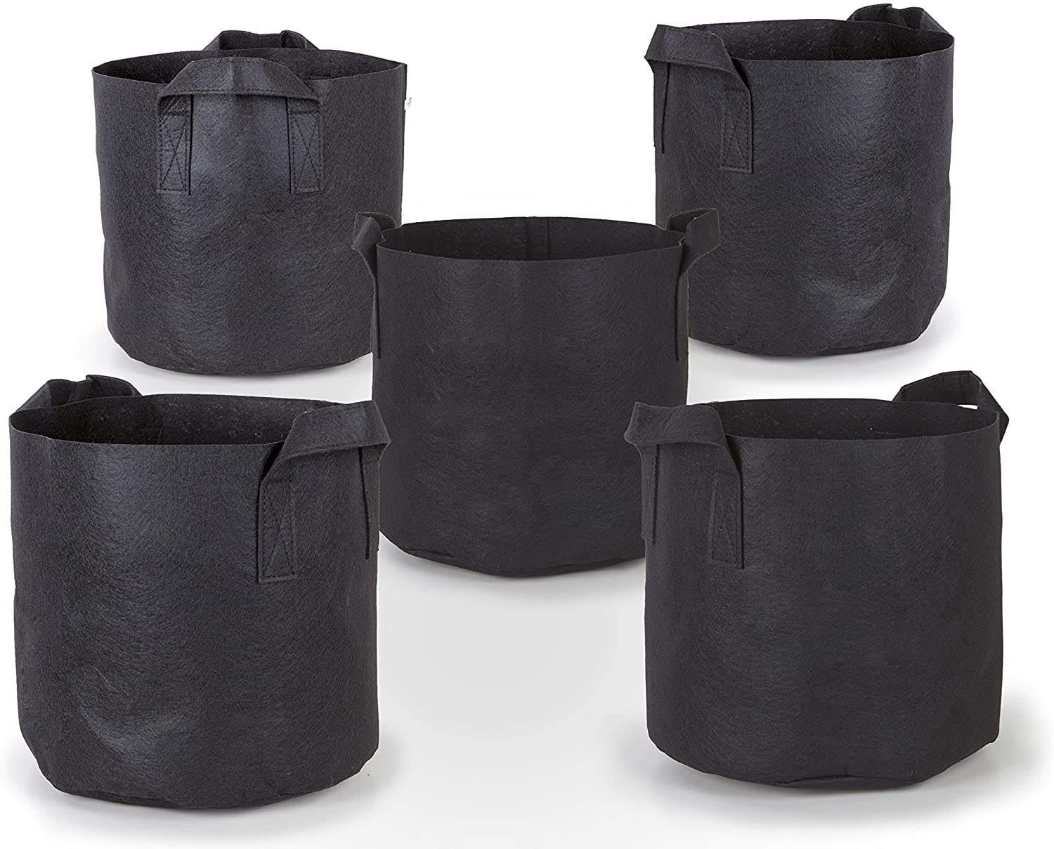 Plant Grow Bags 3 Gallon 5 Gallon 10 Gallon 15 Gallon 30 Gallon 100 Gallon Aeration Fabric Pots Garden Potato Felt Grow Bag