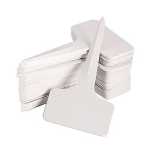 Garden Labels gardening plant classification sorting sign tag ticket plastic writing plate board Plug in card white