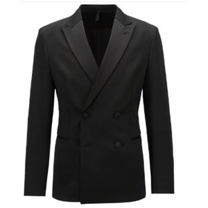 High Quality Men Black Blazers Autumn Fall Man Coat Only Custom Made Suits Slim Fit Formal Wear