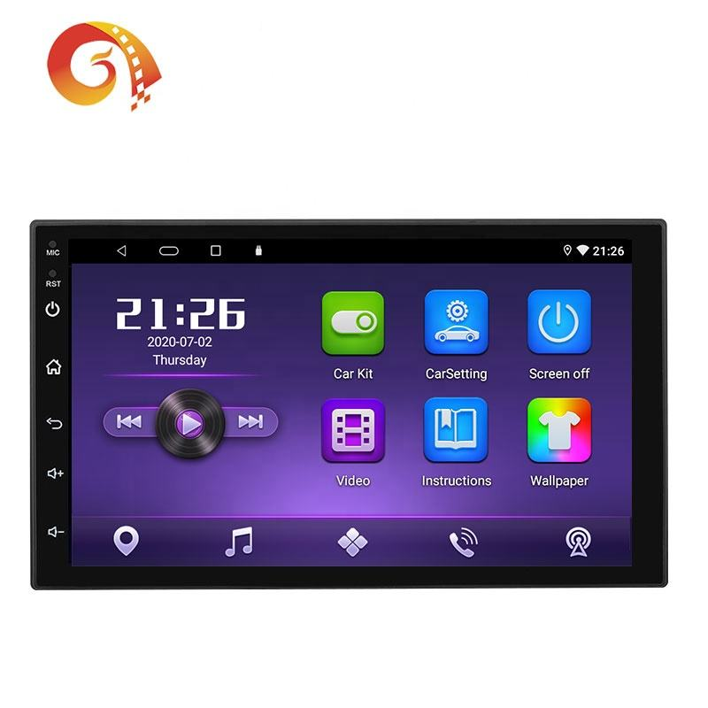 Oem Gps Navigatie Auto Stereo Auto Video Dubbel Din 7 Inch Universele Auto Audio Radio Multimedia Android Head Unit