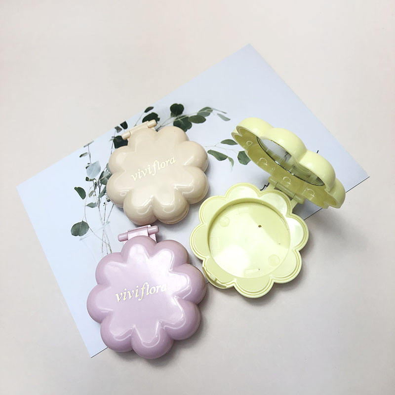 Petals shape compact personal case compact make up mirror case custom compact case