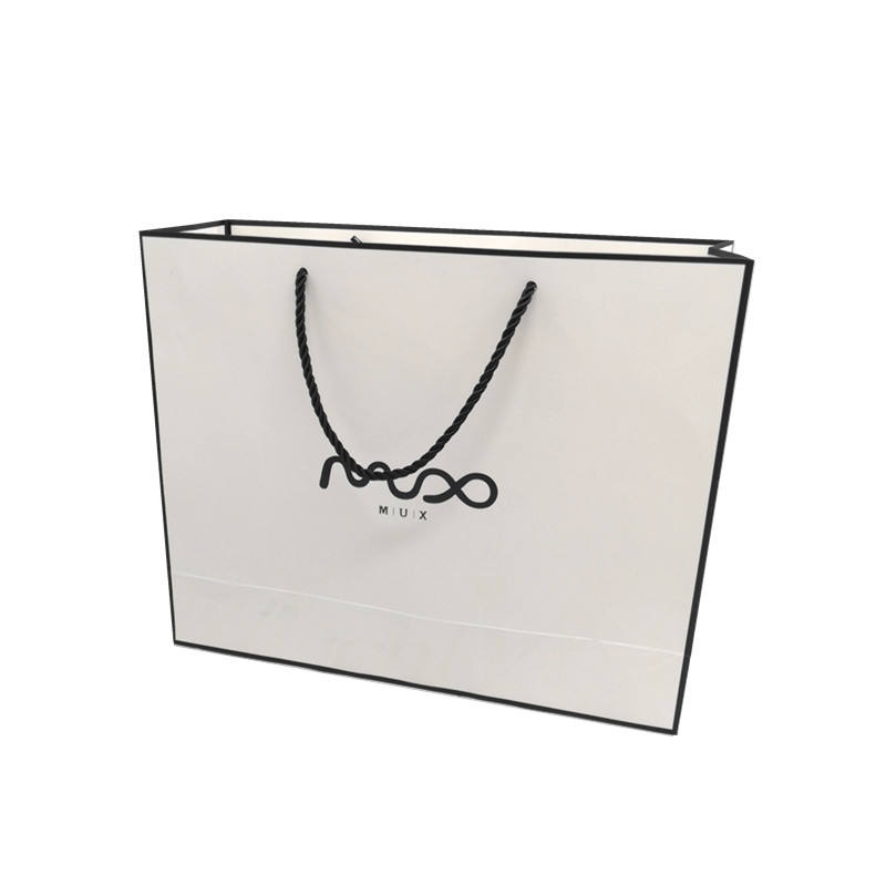 Custom Logo Printed Luxury Shopping Paper Bag for Cloth