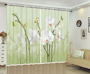 Curtain accessories American window craft style living room office pattern to map custom hotel decoration full shading