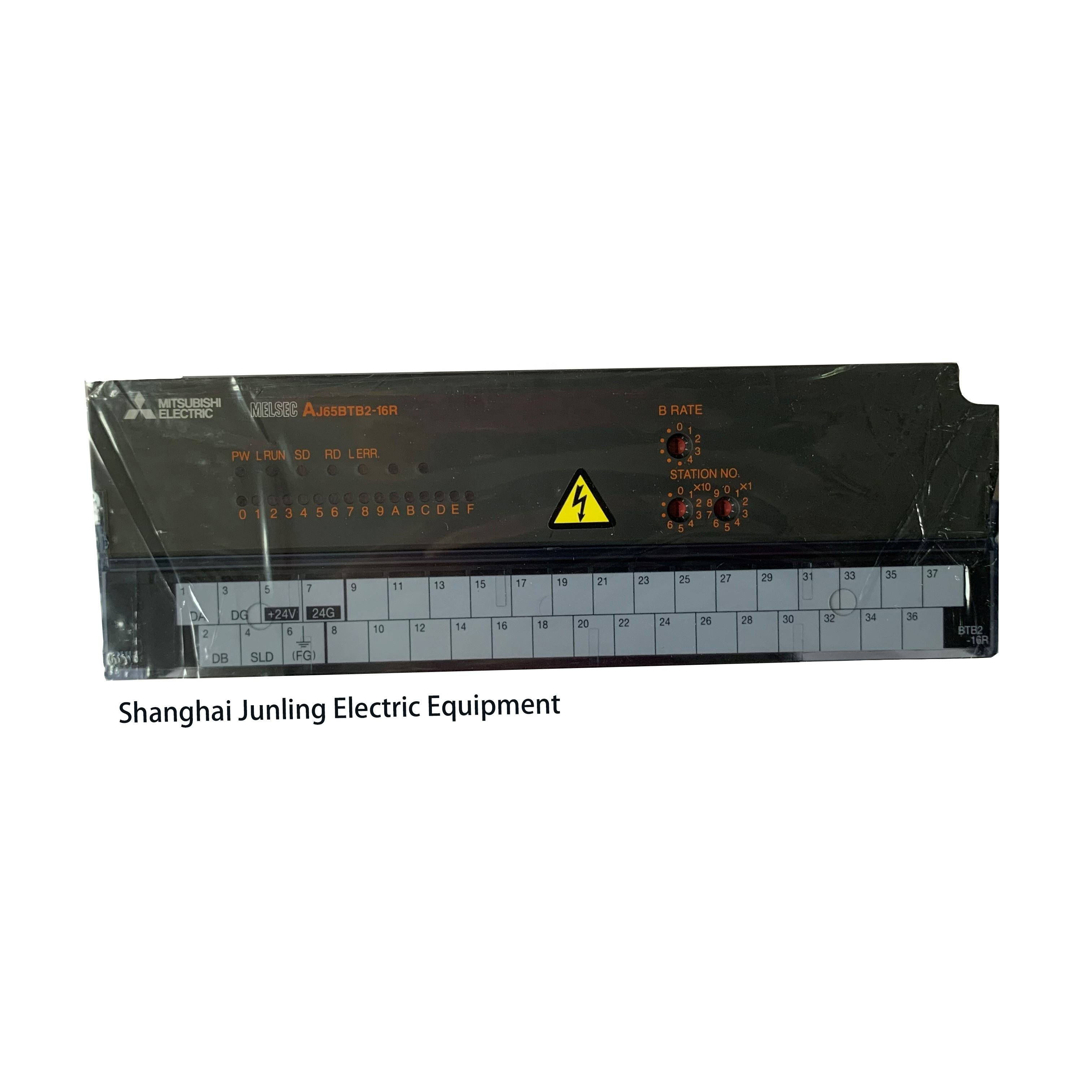 AJ65BTB2-16R Mitsubishi PLCcc-link remote I/O output module, 2-wire, 16-point contact output, DC24V, response time 12ms