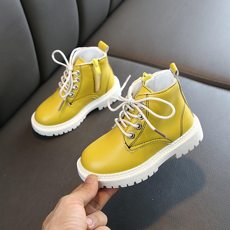 Online children winter martin boots warming leather shoes wholesale