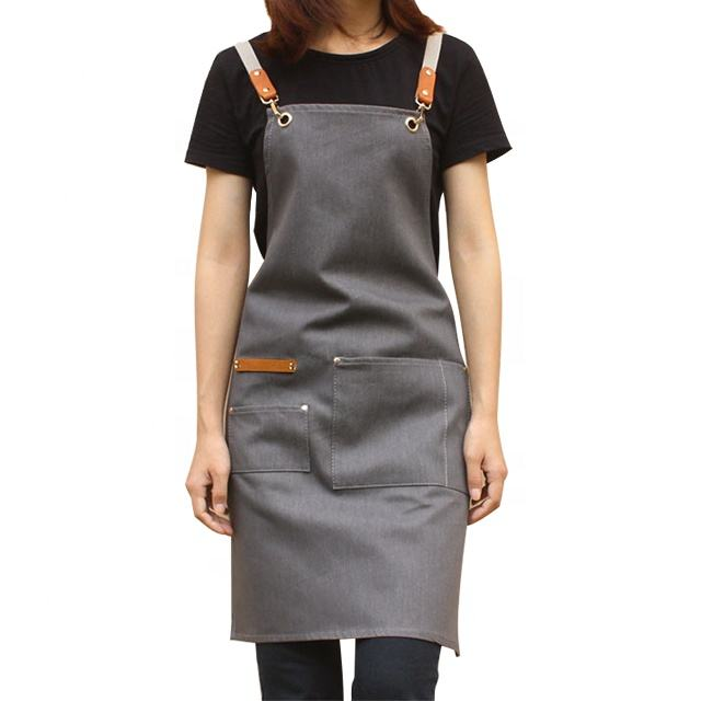 Heavy Duty Denim Jean Work Apron Salon Barber Hairdressers Apron