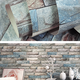 3D environment-friendly simulation brick pattern TV background wallpaper