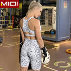 Custom Gym Printed Tights Serpentine Yoga Wear 2 Piece Sports Shorts Set