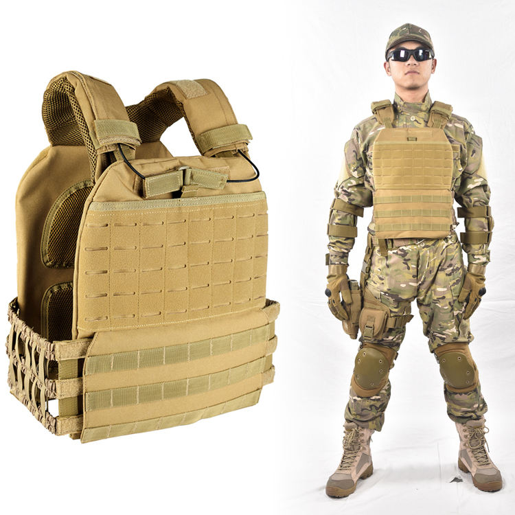 Laser cut military tactical molle plate carrier armee weste