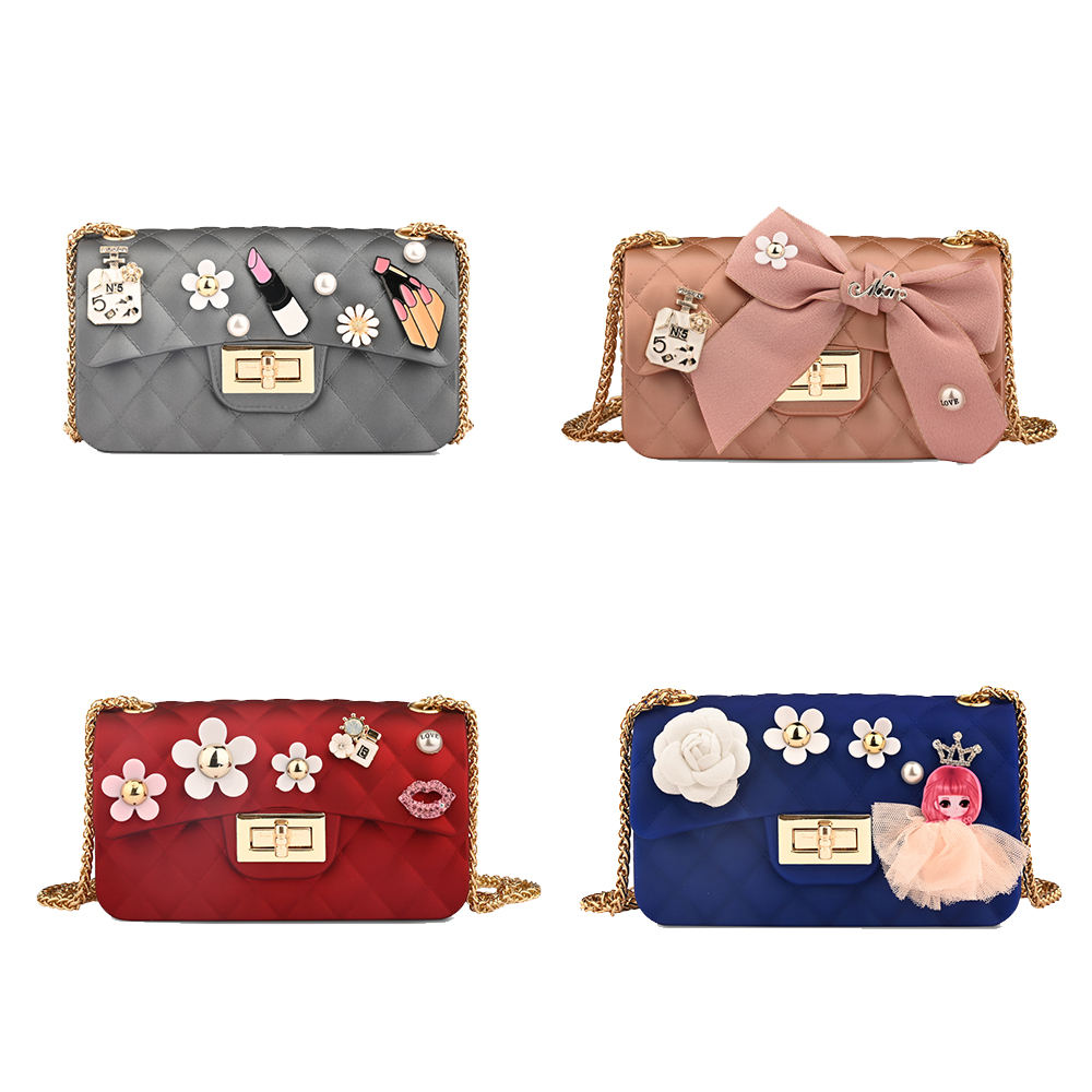 New model custom fashion unbranded handbag pu leather jelly colorful candy women coin pruses and mini ladies handbags