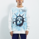 Factory Dropshipping Mens Oversized Hip Hop Crewneck No Hood Sublimation Print Sweatshirt