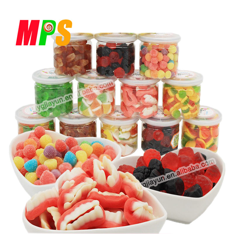 Custom private label 6 Oz assorted fruit gummy candy in In Jar/bag/ pill bottle chinese wholesale candy supplier