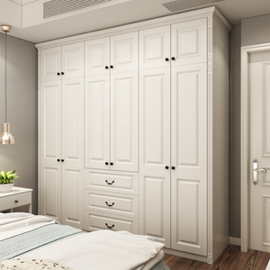 Practical American style rta white solid wood wardrobe